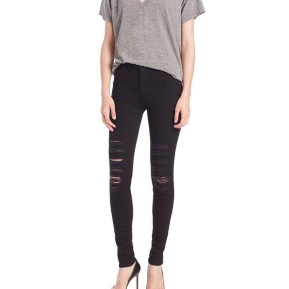 35aee10c60f7 J Brand Denim - J Brand Maria Black Heart High-Rise Skinny Leg